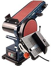 Ferm Bandschuurmachine - 350W - 150mm - inclusief 2 Schuurbanden (P80 en P120) en 2 Schuurschijven (P80 en P120)