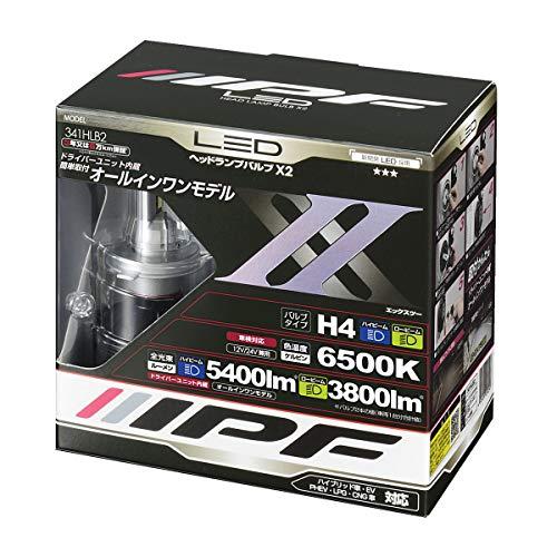 IPF ヘッドライト LED H4 バルブ 12V/24V 兼用 6500K 341HLB2 ハイエース など