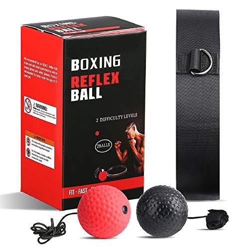 bola boxeo, pelota boxeo Pelota de boxeo de reflexión mejorada, pelota de boxeo, entrenamiento de velocidad Mma adecuado para adultos/niños,