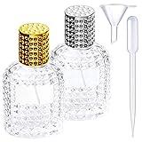 2 pièces flacon de parfum lacon vaporisateur de parfumen forme d'ananas Flacon de parfum en verre Atomiseur Accessoire de voyage parfait réutilisable et portable