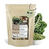 nur.fit by Nurafit BIO Grünkohlpulver 2kg – veganes Gemüsepulver aus getrocknetem Grünkohl in Bioqualität aus deutschem Anbau – für Smoothies, Bowls, Shots