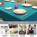 Balcony&Falcon Tischdecke Leinenoptik tischdecke abwaschbar Tischtuch Leinen Tischläufer Tischwäsche Eckig Wasserdicht Tischdecke Blau 145 x300 - 7