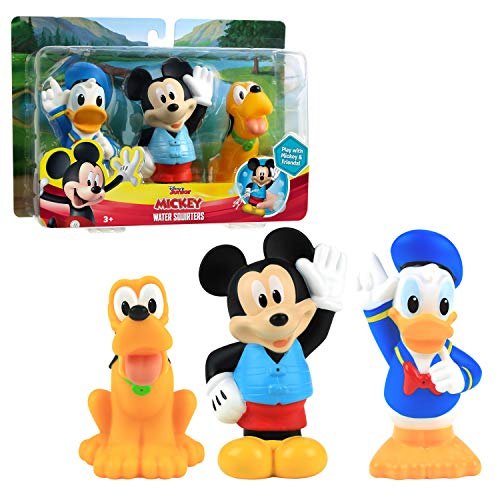 Disney Junior Mickey Mouse Bath Toy Set, Includes Mickey Mouse, Donald Duck, and Pluto Water Toys, Amazon Exclusive, by Just Play