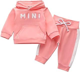 Babykleidung Set Baby Mädchen Kleidung Outfit Langarm Kapuzenpullover Top + Hose Neugeborene Kleinkinder Weiche Babyset T-47889