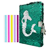 Ariel Reversible Sequin Diary with Lock and Keys from The Little Mermaid