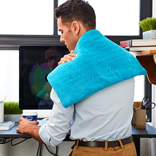 Mighty Bliss Electric Heating Pad for Back Pain and Cramps