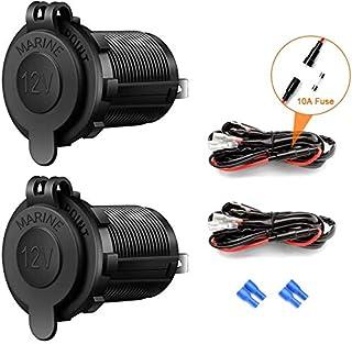 Autosigarettenaansteker-stopcontact, 12 V/24 V, waterdicht, voor auto, motorfiets, marine, camper, vrachtwagen, SUV, UTV, ...