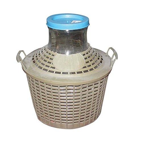 Korken, jocondienne GC10Korbflasche mit Entourage Plast Grand Kragen Glas transparent 34x 34x 37cm 10l
