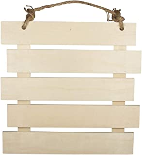 Rayher 62865505 Cartel de madera con listones, 30.5 x 31.6 x 1.5 cm, Cartel decorativo al natural para colgar
