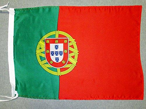 AZ FLAG Drapeau Portugal 45x30cm - PAVILLON Portugais 30 x 45 cm Polyester léger