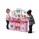Step2 Fun with Friends Kitchen | Large Plastic Play Kitchen with Realistic Lights & Sounds | Pink...