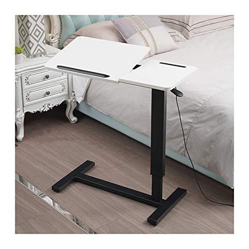 Chunjiao Tabla móvil Mobile Sket Up Desk Mobile Computer Escritorio Altura Ajustable Ángulo Ajustable Adecuado para Dormitorio y Sala de Estar Mesa Plegable/Mesa para Ordenador (Color : White)