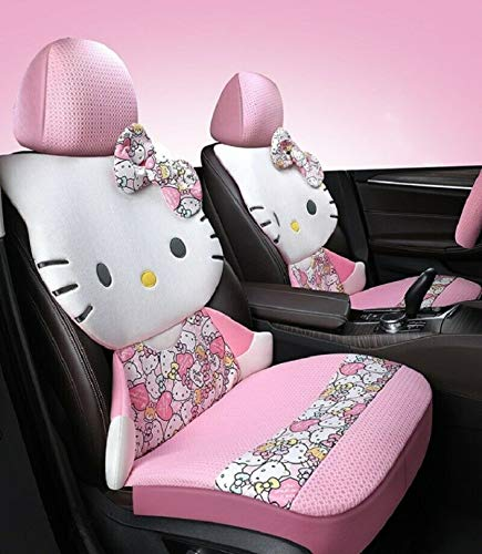 Eriks Hello Kitty Car Seat Covers Cartoon Universal Car Interior - New, Fast Delivery (Pink)