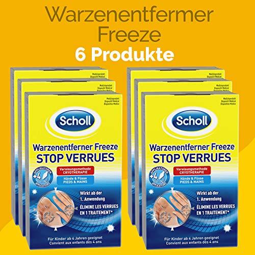 Scholl Freeze Warzen-Entferner 480ml (6 x 80ml)
