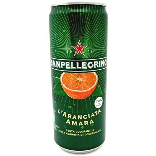 24x SanPellegrino Aranciata Amara Limonade 'Bitteroange', 330 ml