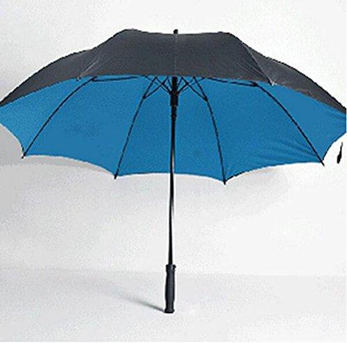 WYF-YS Paraguas de Mango Largo Doble Mango Recto Viento de Gran tamaño Paraguas Soleado Hombres Frescos Paraguas publicitario Creativo (Color : C)