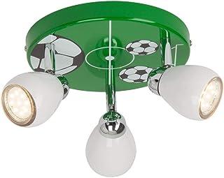 Brilliant AG G56234/74 - Lámpara de techo de metal, 3 W, GU10, color verde