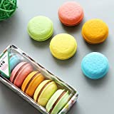 SELLA 5 Piezas Cute Kawaii Colorful Cake Rubber Eraser Creative Macaron Erasers School Office Supplies Stationery Student Kids Gift