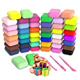 Modeling Clay - 48 Colors Air Dry Clay, 26.4 Ounce DIY Magic Clay with Tools and Munuals, Kids Toys Set for Boys and Girls