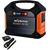 Webetop Web3089 Portable Generator 42000mAh Power Inverter Battery Bundle with Deco Gear Tactical Flashlight and Tactical Pen Set with Water/Shockproof Case