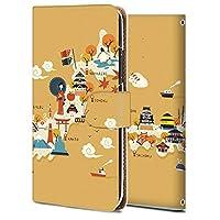 iPhone 8 ケース 手帳型 アイフォン 8 カバー スマホケース おしゃれ かわいい 耐衝撃 花柄 人気 純正 全機種対応 日本地図旅行イラスト かわいい アニメ 9133009