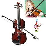WZDTNL - Violino Giocattolo Finto con Fiocco, Ideale Come Regalo per Principianti e per Bambini (Colore Casuale)