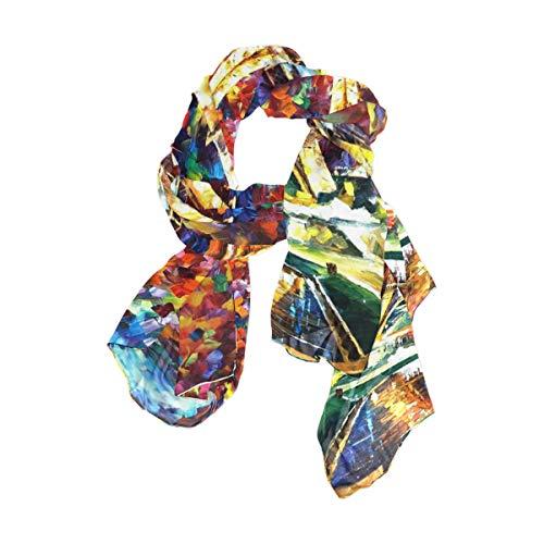NaiiaN Imprimir Pañuelo cuadrado Chal Bufanda Torre Eiffel Arco Iris Ligero Envolturas para mujeres Niñas Damas Favor 90x180 CM Vida salvaje