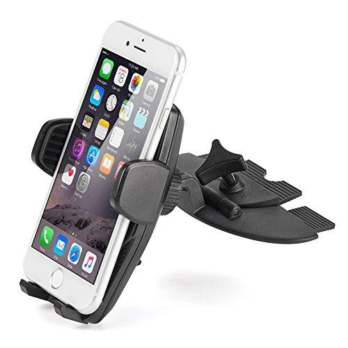 iKross CD Montatura Supporto, Universale Supporto per CD Slot da Auto per Smartphone, iPhone, Android, Cellulari, GPS ECC, con 360 Gradi Rotazione
