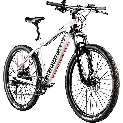 Zündapp E Mountainbike 650B Hardtail Pedelec 27,5 Zoll Z801 eBike Elektrofahrrad (schwarz/weiß, 48 cm)