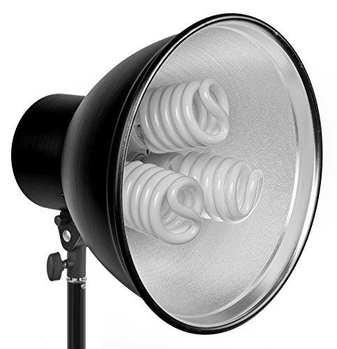 Bresser F000470 fotográfico Tageslichtset MM-12 (2 x Soporte, 6 x luz lámpara, 55 Watt, 2 x Trípode, 2,4 m)