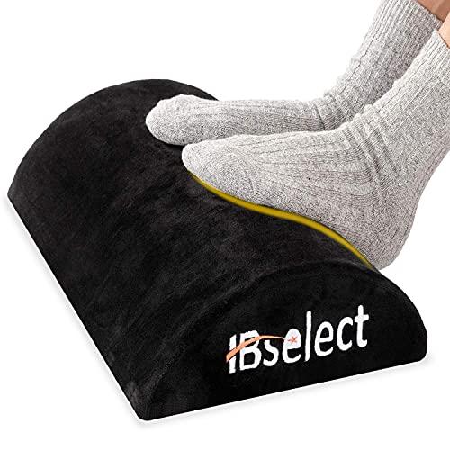 HBselect Fotstöd för under skrivbord, fotstöd skum benhöjare stödkudde kudde med avtagbart skydd för skrivbord, flygplan, resor, kontor eller hem vardagsrum användning