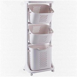 Stable Panier de rangement sale vêtements stockage toilettes ménagers Panier à linge multi-couches en plastique Boîte de r...