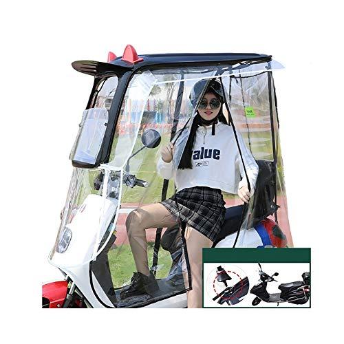 Cubierta De Lluvia Scooter, Puede Bloquear Efectivamente La Luz Solar Y La Lluvia, Adecuada For Scooters Con Espejo Retrovisor, Cuatro Estilos Novedosos, Negro ( Size : Side curtains fully enc