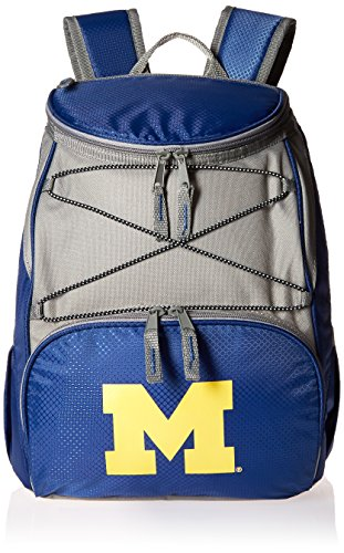 picnic time ice bags PICNIC TIME NCAA Michigan Wolverines PTX Insulated Backpack Cooler, Navy, One Size (633-00-138-344-0)