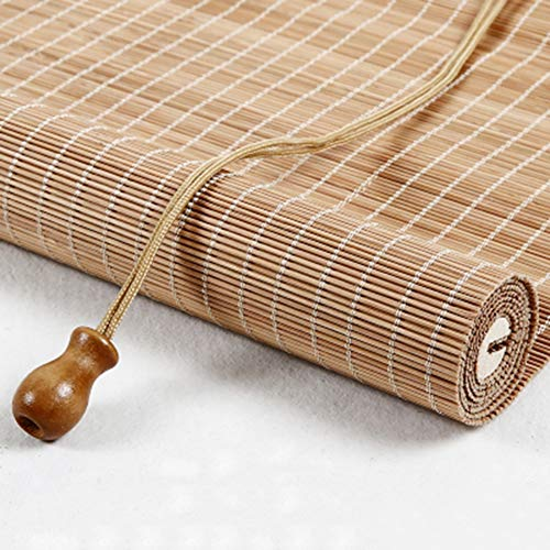 Bambusrollo Carbonize-Rollläden mit Haken Oben, Verdunkelungsvorhang-Rollläden für Wintergarten/Wohnzimmer, 85 cm / 105 cm / 135 cm / 145 cm Breit (Size : 105cm×120cm)