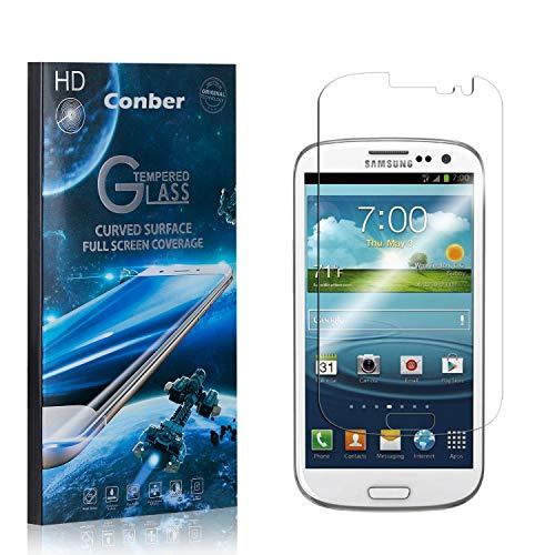 [1 Stück] Conber Panzerglas Schutzfolie für Samsung Galaxy S3, [9H Härte][Anti-Kratzen][Anti-Öl][Anti-Bläschen] Panzerglasfolie Displayschutz für Samsung Galaxy S3