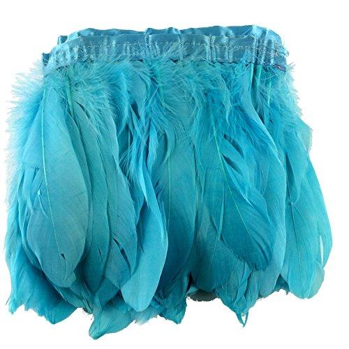 Sowder Turquoise Duck Goose Feather Trim Fringe 2 Yards