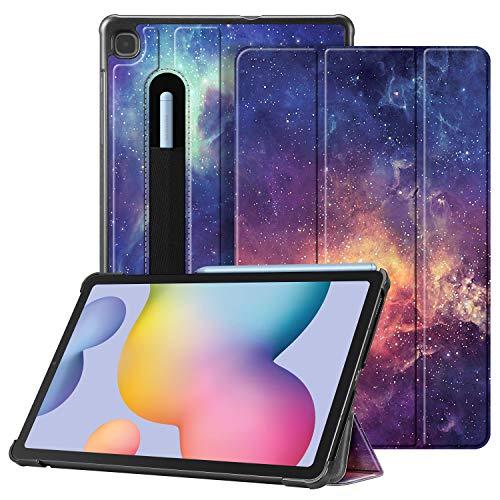 Fintie Hülle für Samsung Galaxy Tab S6 Lite - Ultra Schlank Kunstleder Schutzhülle mit Stifthalter, Auto Schlaf/Wach Funktion für Samsung Tab S6 Lite 10.4 SM-P610/ P615 2020, Die Galaxie