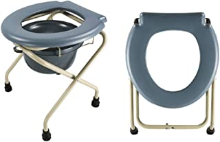 LZLYER Shower Chair Toilet Bathtub Portable Deluxe Folding Lightweight Commode, Toilet Seat/for Disabled Person, Elderly,Pregnant Women