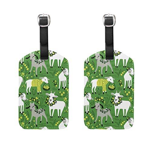 Little Goats - Set di 2 etichette per bagagli per valigia