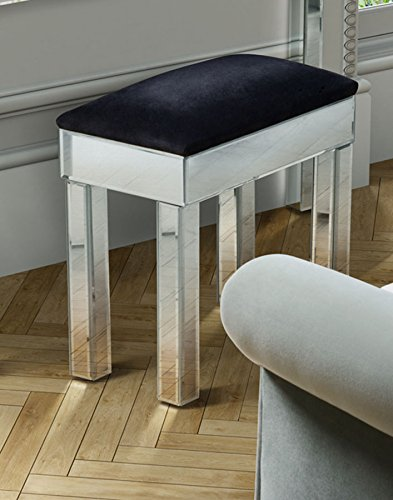 My-Furniture Knightsbridge Verspiegelter Hocker