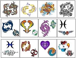 Piscis Tatuajes Temporales: Amazon.es: Belleza