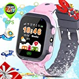 Kids GPS Tracker Watch-ZEERKEER Smart Watch Phone for Kids with Waterproof Voice Chat