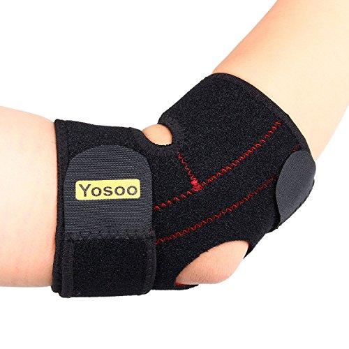 Yosoo, tutore regolabile in neoprene di supporto per il gomito del tennista, con chiusura a strappo