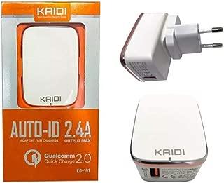 Carregador de Parede com USB Alta Velocidade, Kaidi, CT-KD-101, Branco
