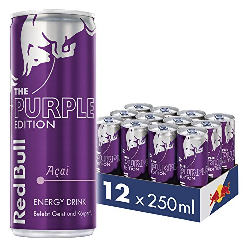 Red Bull Energy Drink Acai-Beere Dosen Getränke Purple Edition 12er Palette, EINWEG (12 x 250 ml)