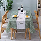 DUKAILIN Table Cloth Kitchen Coffee Tablecloth Cartoon Rectangular Square Table Cloth Waterproof Oilproof Decorative Table Cover
