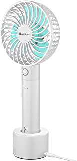 Desk Fan BENGOO Usb Mini Cooling Table Fan Handheld Fan with Rechargeable Power Bank and Detachable Charging Base for Office Outdoor Household and Personal Use - 5 Speeds