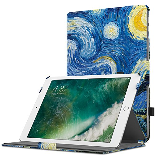 MoKo Case Fit 2018/2017 iPad 9.7 6th/5th Generation - Slim-Fit Multi-Angle Folio Cover Case with...