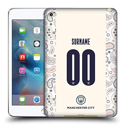 Head Case Designs Officially Licensed Custom Customized Personalized Manchester City Man City FC Third 2020/21 Badge Kit Soft Gel Case Compatible with Apple iPad Mini 4